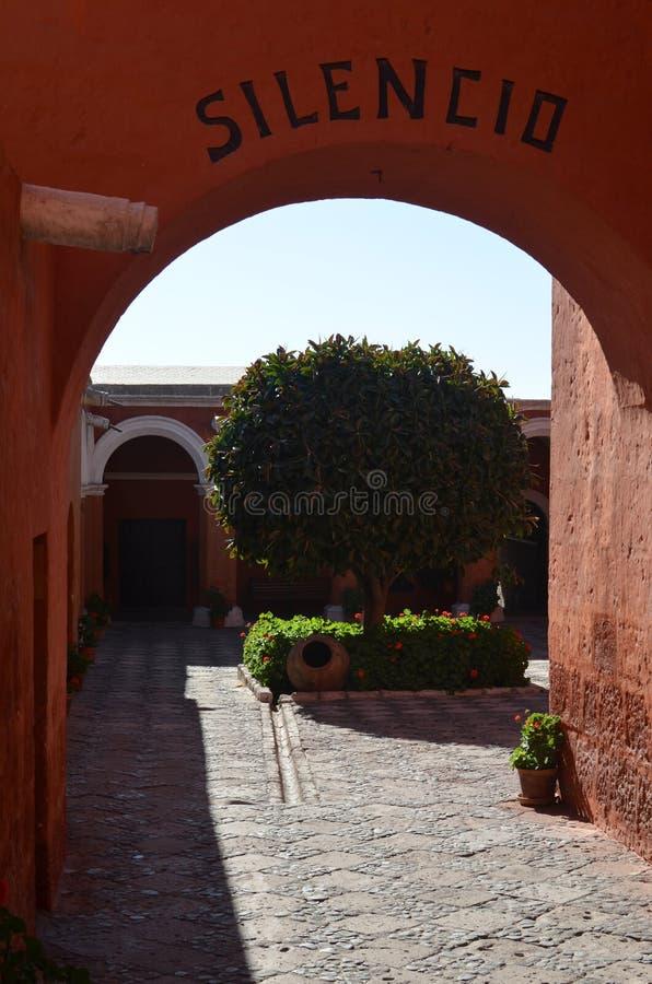 Het klooster van Catalina van de kerstman, Arequipa, Peru stock afbeelding