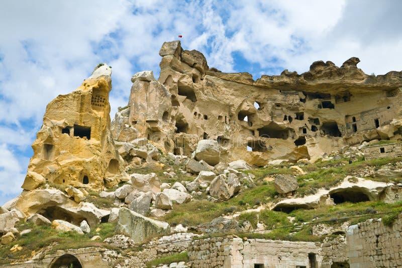 Het Klooster van Cavusin stock afbeeldingen