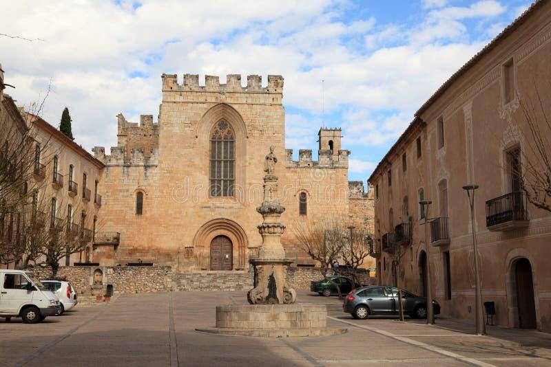 Het Klooster van Creus van Santes in Spanje stock foto's