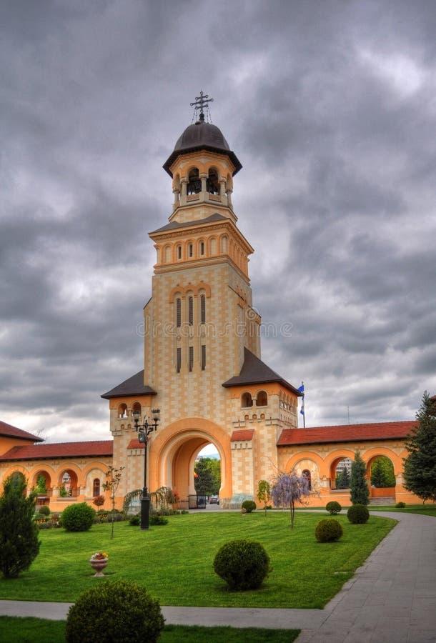 Het klooster van de klokketoren, Roemenië stock foto