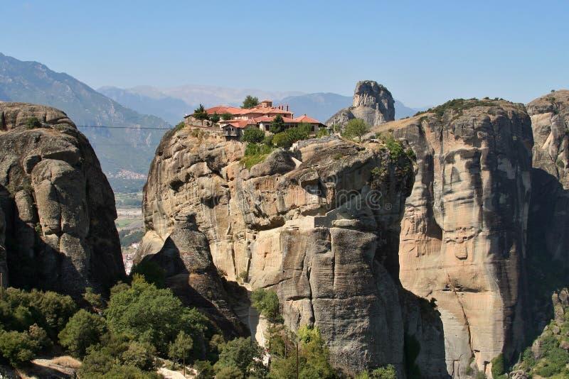 Het klooster van de Meteoor van Griekenland stock fotografie