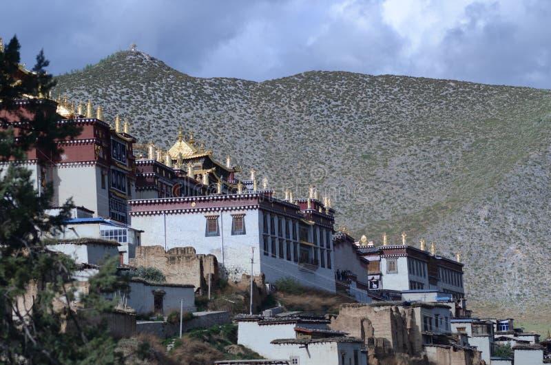 Het Klooster van Gandensumtseling in Shangrila, China stock fotografie