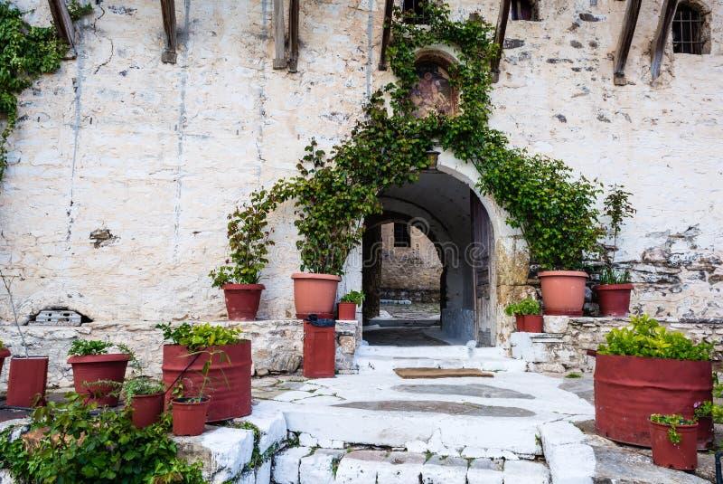 Het klooster van heilige George, Griekenland royalty-vrije stock afbeeldingen