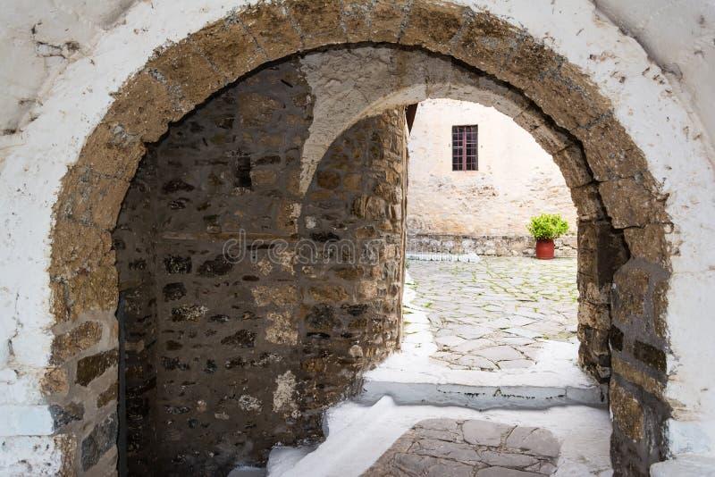 Het klooster van heilige George, Griekenland stock fotografie