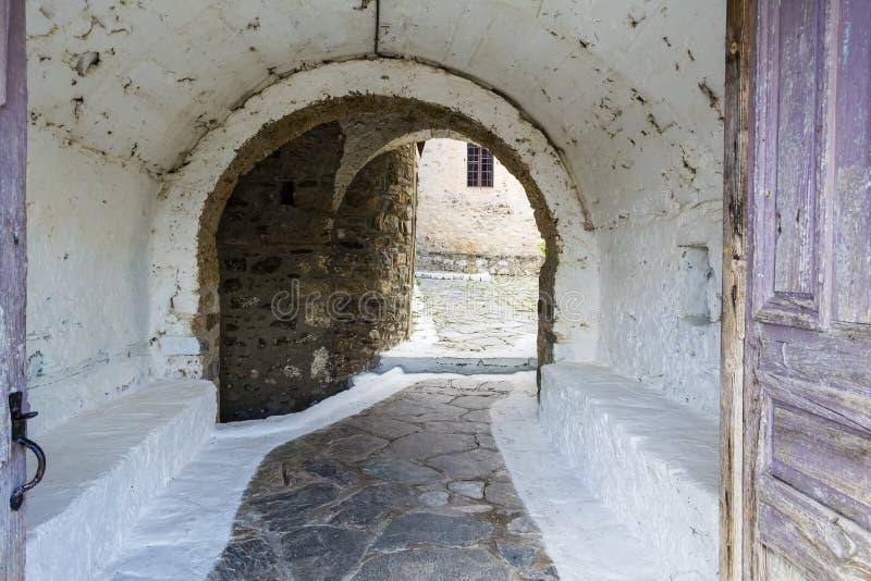 Het klooster van heilige George, Griekenland royalty-vrije stock afbeelding