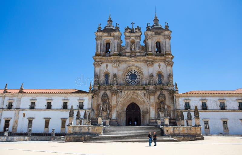 Het Klooster van Heilige Mary van Alcobaca, in centraal Portugal Unesco-de Plaats van de Werelderfenis sinds 1989 stock afbeelding