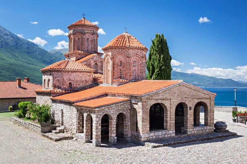 Het Klooster van heilige Naum stock foto