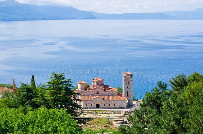Het Klooster van heilige Panteleimon in Ohrid, Macedonië stock fotografie
