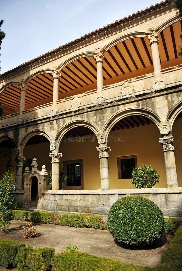 Het klooster van het Klooster van Yuste, Caceres-provincie, Spanje royalty-vrije stock foto
