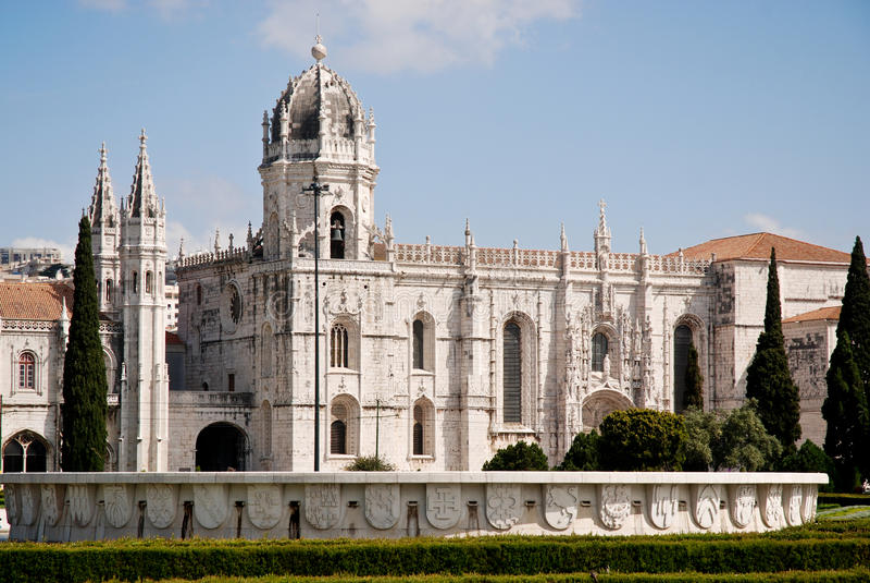 Het Klooster van Hieronymites, Lissabon, Portugal. royalty-vrije stock foto's