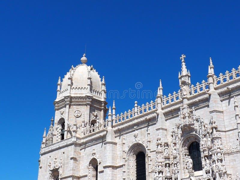 Het Klooster van Jeró nimos of Hieronymites-Klooster in Lissabon Portugal royalty-vrije stock afbeelding