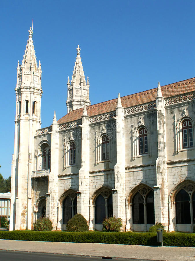 Het Klooster van Jeronimos in Lissabon royalty-vrije stock foto