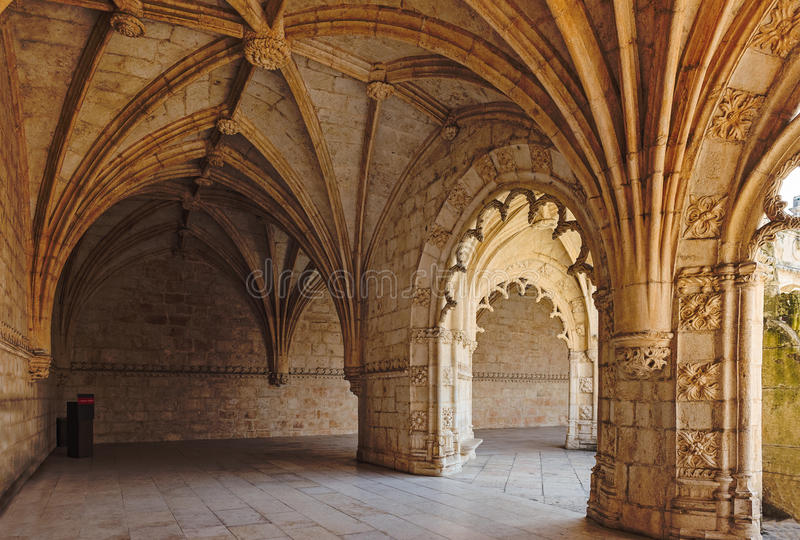 Het Klooster van Jeronimos, Lissabon, Portugal stock afbeeldingen