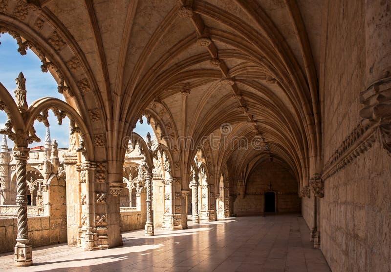 Het Klooster van Jeronimos, Lissabon, Portugal royalty-vrije stock foto