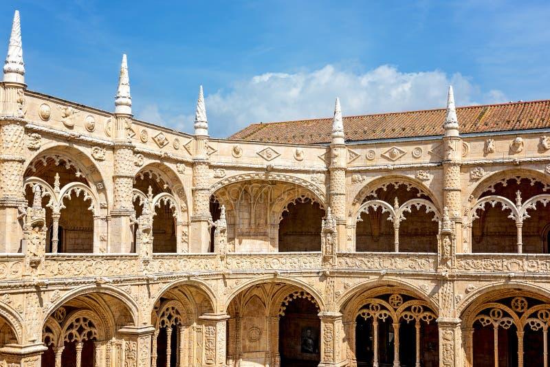 Het Klooster van Jeronimos, Lissabon, Portugal stock afbeelding