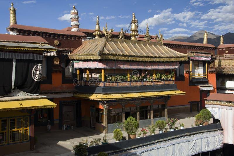 Het Klooster van Jokhang - Lhasa - Tibet royalty-vrije stock afbeelding