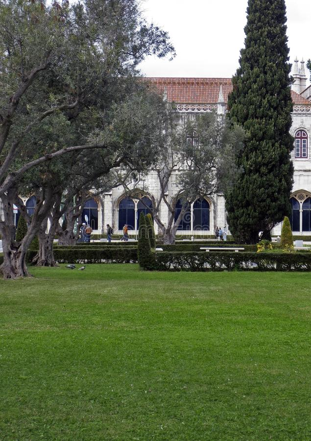 Het Klooster van Lissabon Jeronimos, Belem, Lissabon stock foto's