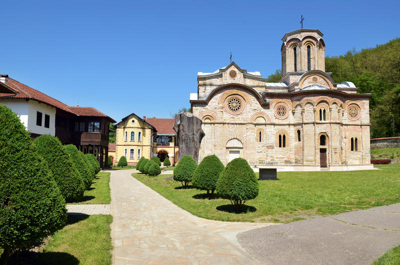 Het klooster van Ljubostinja royalty-vrije stock fotografie