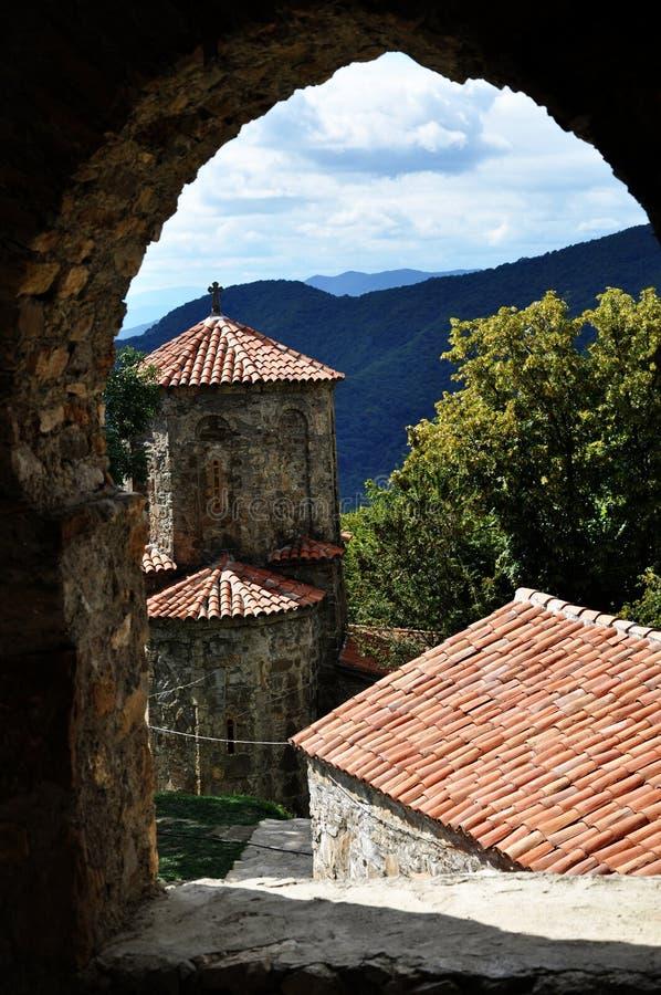 Het klooster van Nekresi in Georgië stock afbeelding