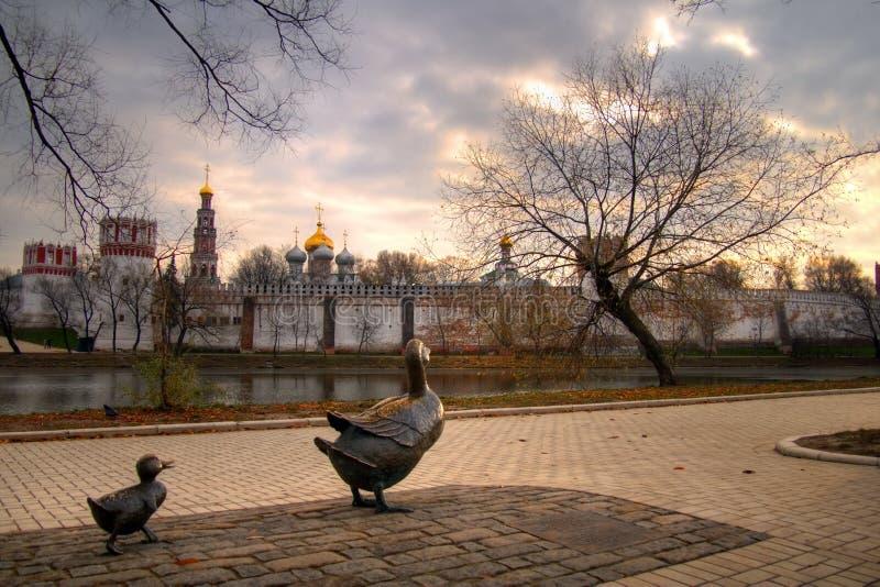 Het Klooster van Novodevichy stock foto's