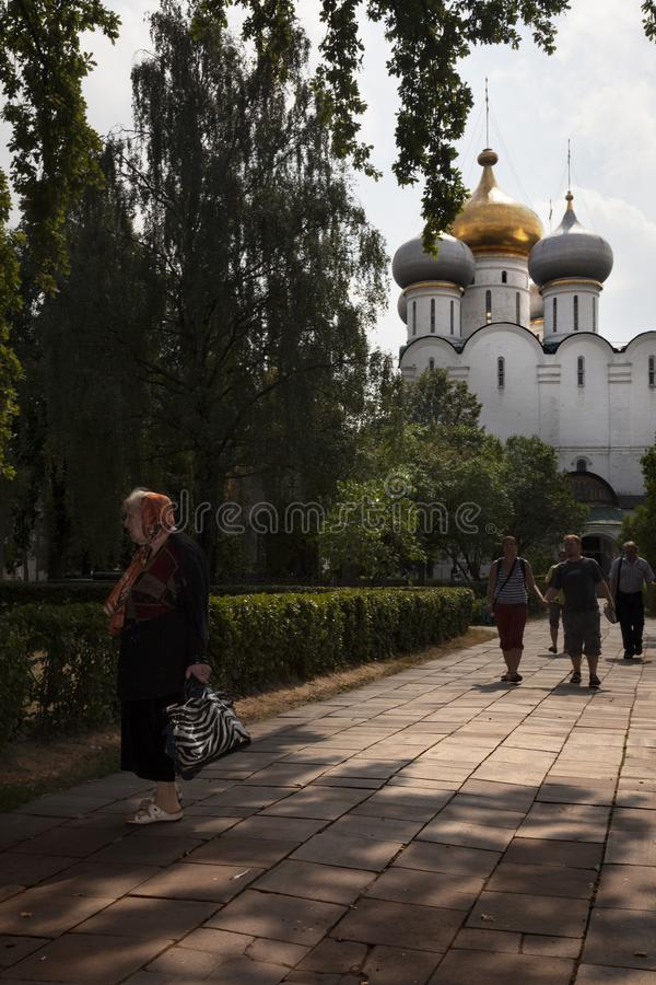 Het klooster van Novodevichy moskou royalty-vrije stock foto's