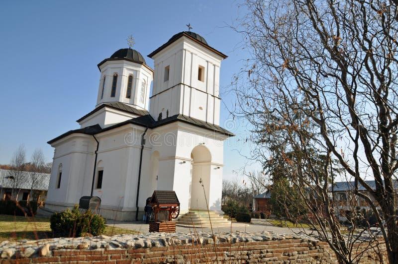 Het klooster van Nucet stock afbeeldingen