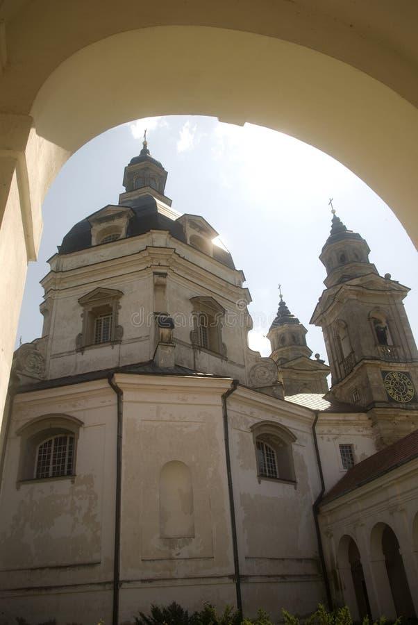 Het Klooster van Pazaislis, Kaunas, Litouwen royalty-vrije stock afbeelding