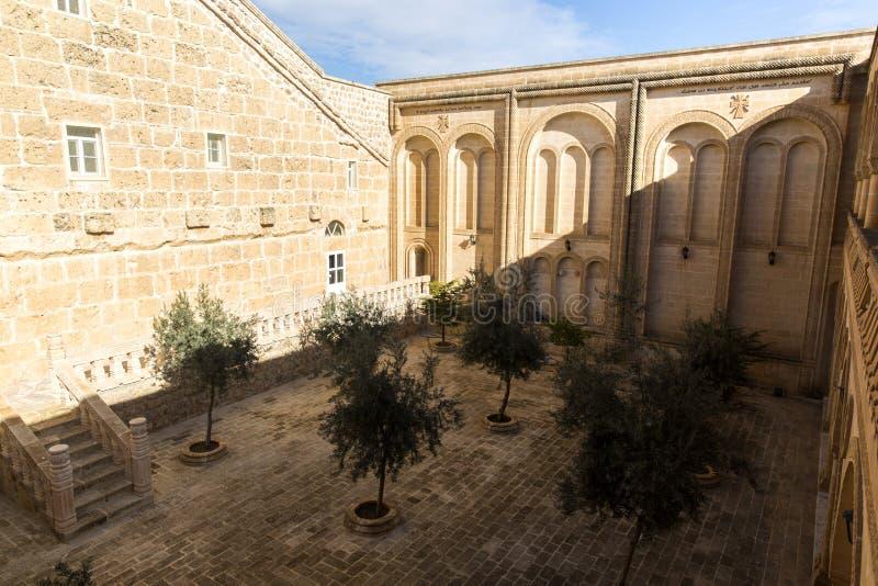 Het Klooster van Purper Gabriel Mardin Turkey royalty-vrije stock foto's