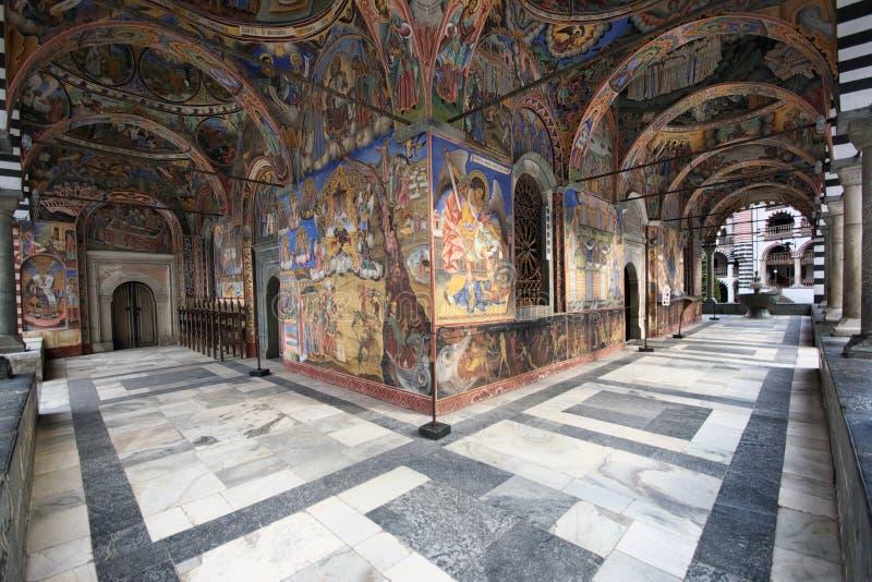 Het Klooster van Rila stock foto's