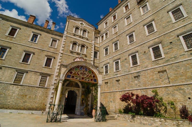 Het klooster van Saint Paul, zet Athos op royalty-vrije stock foto's