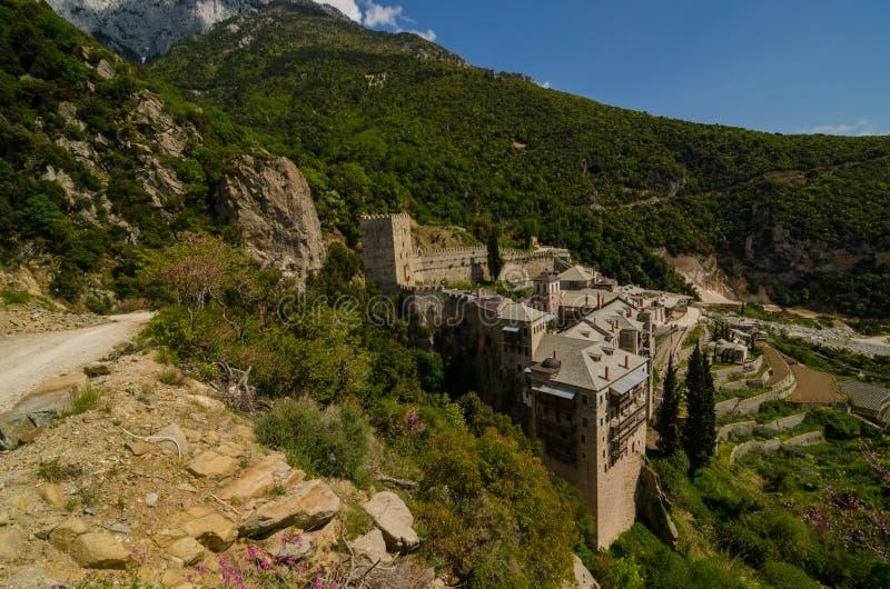 Het klooster van Saint Paul, zet Athos op royalty-vrije stock afbeelding