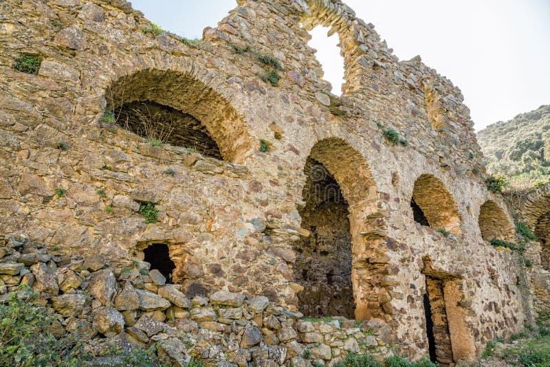 Het klooster van San Francescu dichtbij Castifao in Corsica stock foto's