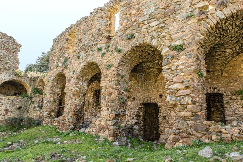 Het klooster van San Francescu dichtbij Castifao in Corsica royalty-vrije stock foto