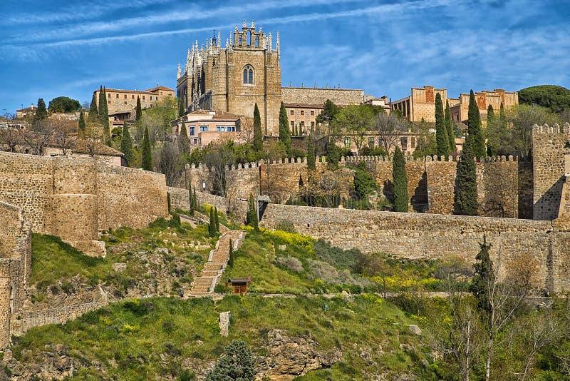 Het klooster van San Juan DE los Reyes, Toledo, Spanje stock foto