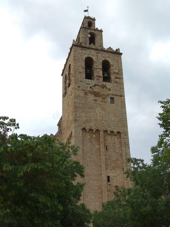 Het klooster van Santcugat stock foto
