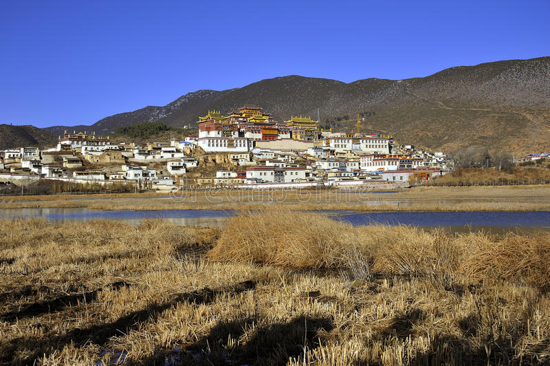 Het klooster van Songzanlin stock foto