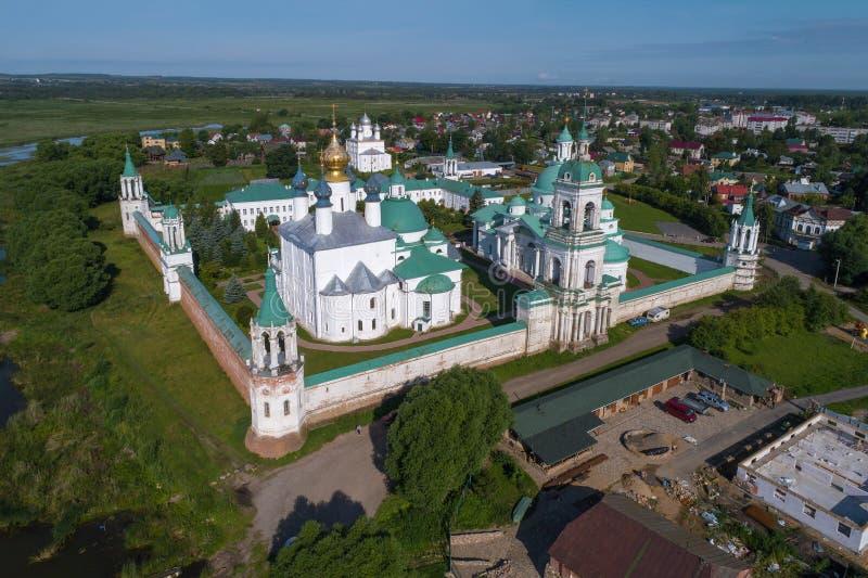 Het Klooster van spaso-Yakovlevsky Dmitrovsky Rostov Groot stock afbeelding
