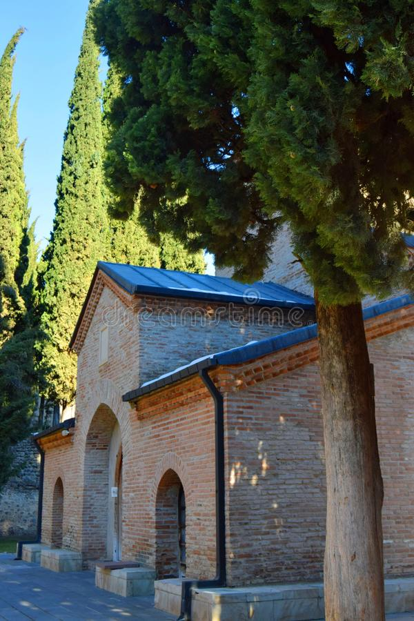 Het Klooster van St Nino in Bodbe Georgië royalty-vrije stock afbeelding