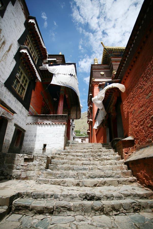 Het Klooster van Tashilhunpo in Tibet royalty-vrije stock fotografie