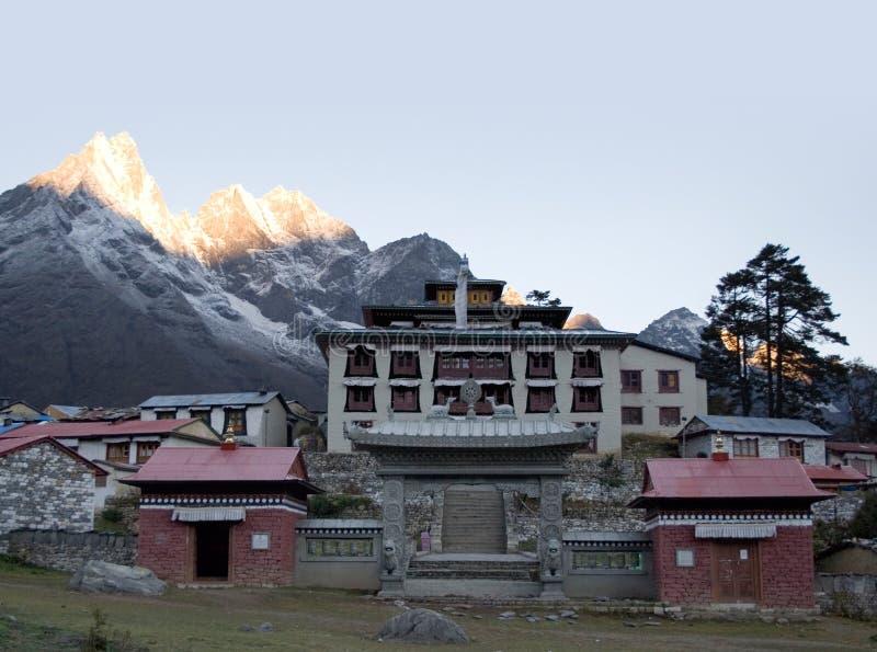 Het Klooster van Tengboche - Nepal royalty-vrije stock afbeelding