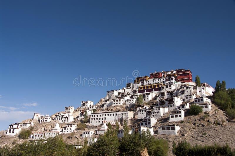 Het Klooster van Thikse in Ladakh royalty-vrije stock fotografie