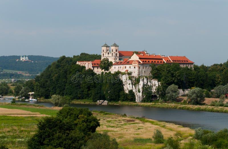 Het Klooster van Tyniec stock afbeelding