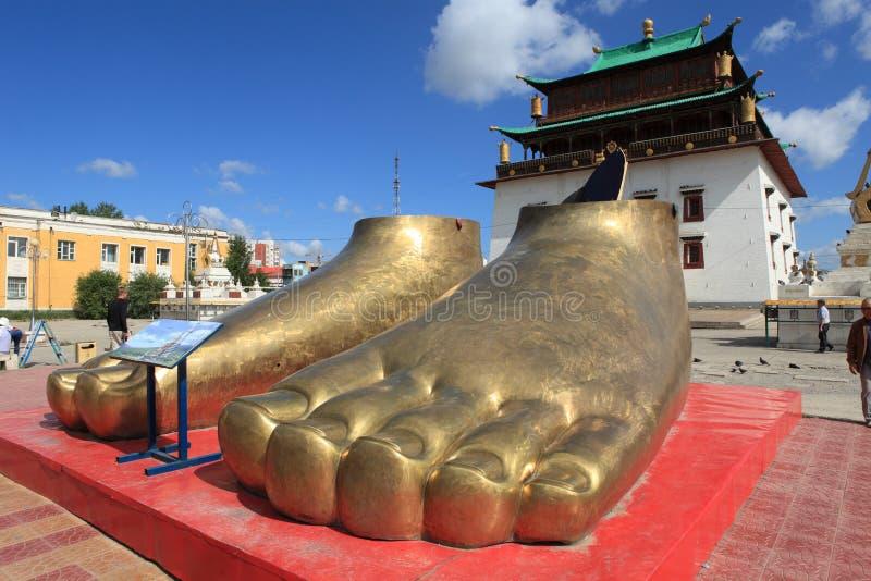 Het Klooster van Ulaanbaatargandan royalty-vrije stock foto's