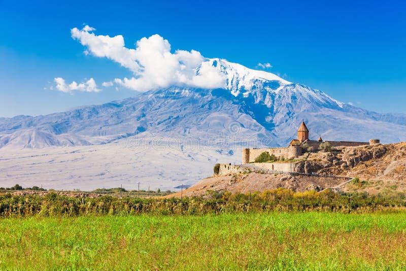 Het klooster van Virap van Khor stock foto