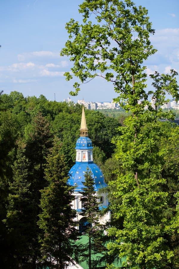 Het klooster van Vydubitsky stock fotografie
