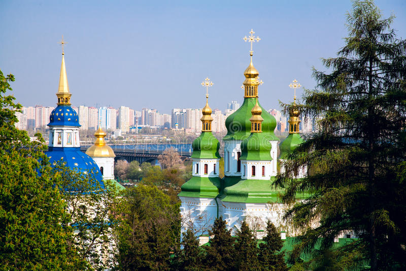 Het klooster van Vydubitsky royalty-vrije stock foto's