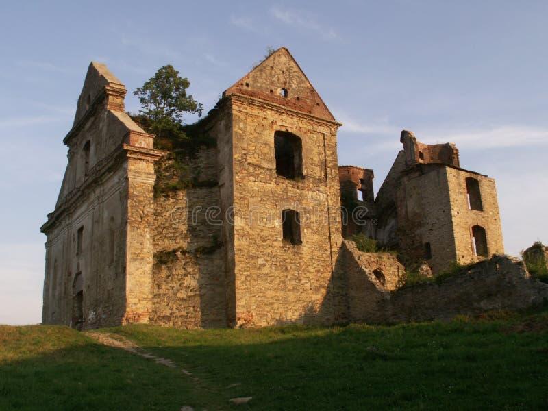 Het klooster van Zagórz stock foto