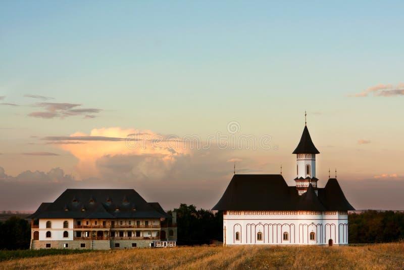 Het Klooster van Zosin, Roemenië stock foto's