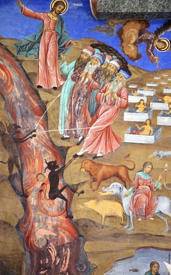 Het kloosterfresko van Mozes royalty-vrije stock afbeelding