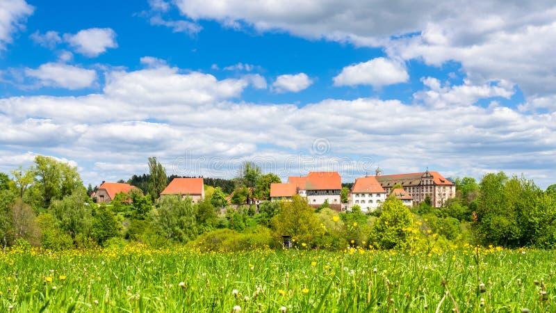 Het kloosterklooster van Kirchberg in Sulz Duitsland wordt gevestigd dat royalty-vrije stock fotografie